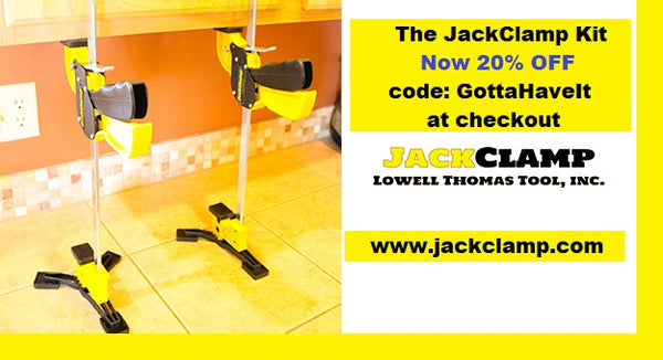 Installing Microwaves is easy when you have the JackClamp System Kit! Make a typical two man job into a one man job! Get yours TODAY! 20% OFF with code GottaHaveIt at checkout.