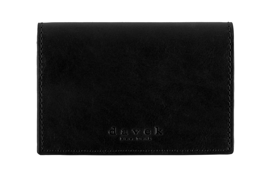 davek black leather business card holder best business card wallet davek umbrellas - Leather Business Card Holder