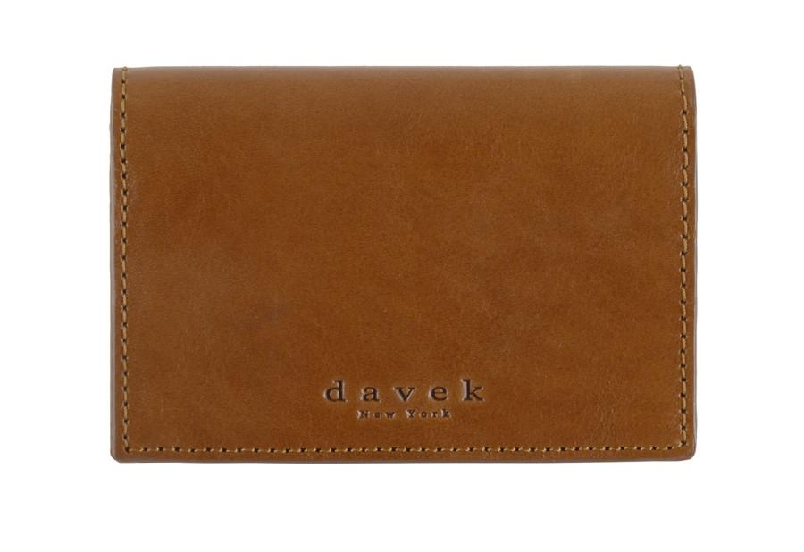 davek brown leather business card holder best business card wallet davek umbrellas - Leather Business Card Holder