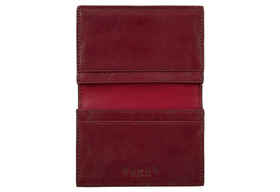 Burgundy Leather Business Card Holder | Leather Business Card Wallet ...