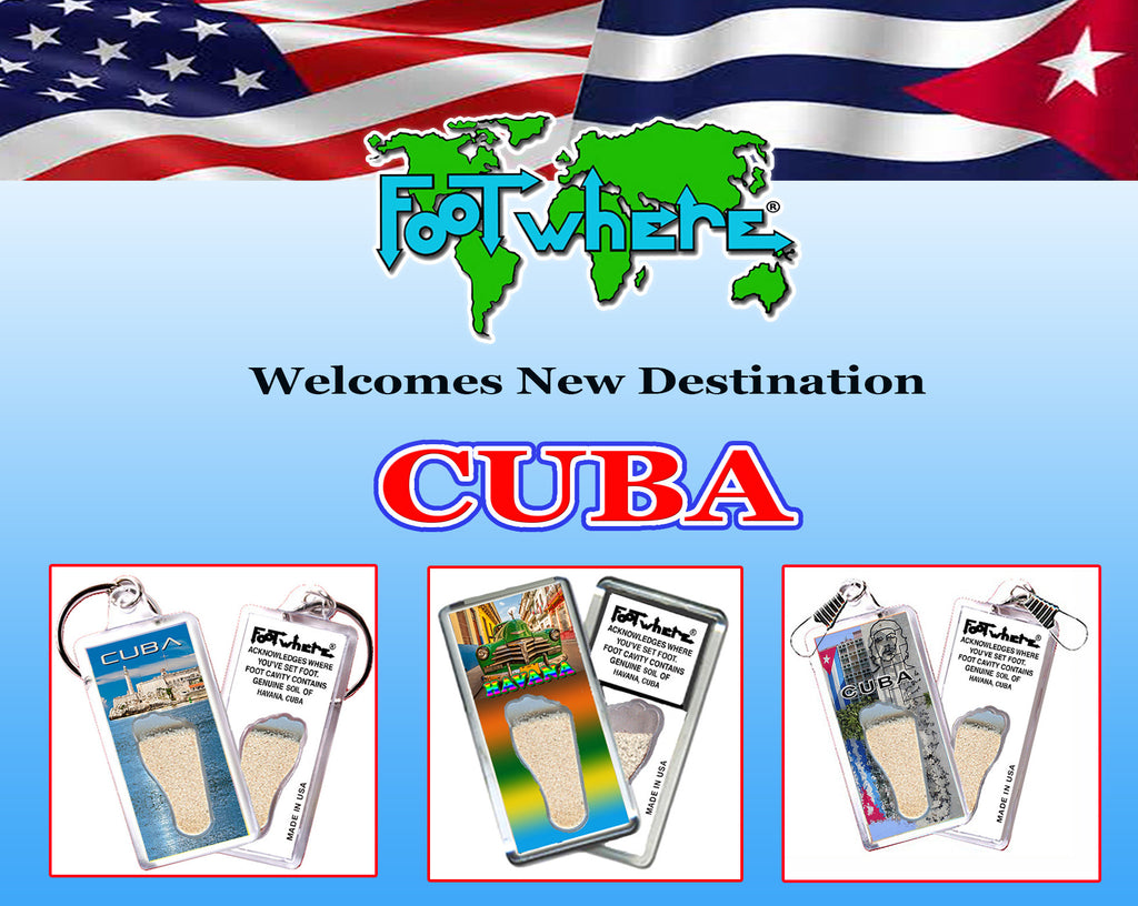 FootWhereUSA salutes US and Cuba relations. Let's go places!