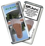 Albany, NY FootWhere® Souvenir Fridge Magnet. Made in USA - FootWhere® Souvenirs