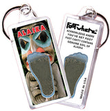 Alaska FootWhere® Souvenir Keychain. Made in USA