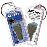 Alaska FootWhere® Souvenir Keychain. Made in USA - FootWhere® Souvenirs