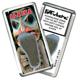 Alaska FootWhere® Souvenir Fridge Magnet. Made in USA - FootWhere® Souvenirs