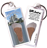 Amsterdam FootWhere® Souvenir Keychain. Made in USA - FootWhere® Souvenirs