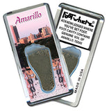 Amarillo FootWhere® Souvenir Fridge Magnet. Made in USA - FootWhere® Souvenirs