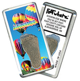Albuquerque FootWhere® Souvenir Fridge Magnet. Made in USA - FootWhere® Souvenirs