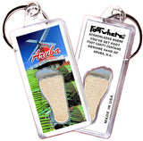 Aruba, N.A. FootWhere® Souvenir Keychain. Made in USA - FootWhere® Souvenirs