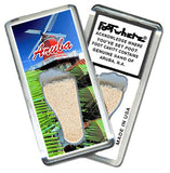 Aruba, N.A. FootWhere® Souvenir Magnet. Made in USA - FootWhere® Souvenirs