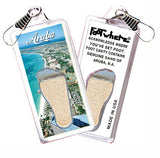 Aruba, N.A. FootWhere® Souvenir  Zipper-Pull. Made in USA - FootWhere® Souvenirs