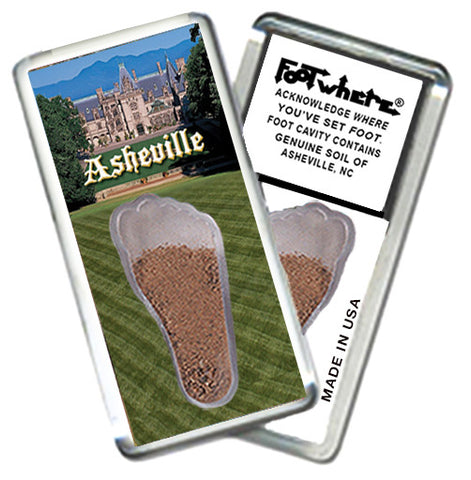 Asheville, NC  FootWhere® Souvenir Magnet. Made in USA - FootWhere® Souvenirs