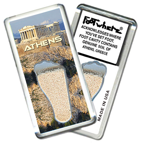 Athens, Greece FootWhere® Souvenir Fridge Magnet. Made in USA - FootWhere® Souvenirs