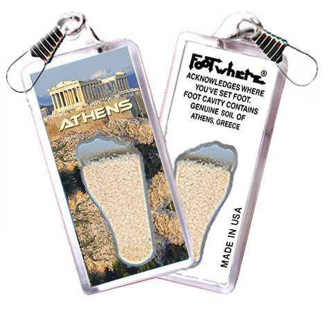 Athens, Greece FootWhere® Souvenir Zipper-Pull. Made in USA - FootWhere® Souvenirs