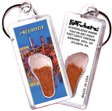 Atlanta FootWhere® Souvenir Keychain. Made in USA - FootWhere® Souvenirs