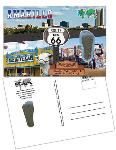 Amarillo FootWhere® Souvenir Postcard. Made in USA - FootWhere® Souvenirs