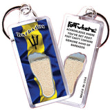 Barbados FootWhere® Souvenir Keychain. Made in USA - FootWhere® Souvenirs