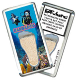 Barbados FootWhere® Souvenir Magnet. Made in USA