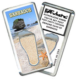 Barbados FootWhere® Souvenir Magnet. Made in USA - FootWhere® Souvenirs