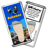 Bahamas FootWhere® Souvenir Magnet. Made in USA