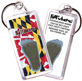 Baltimore FootWhere® Souvenir Keychain. Made in USA - FootWhere® Souvenirs