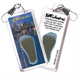 Baltimore FootWhere® Souvenir Zipper-Pull. Made in USA - FootWhere® Souvenirs