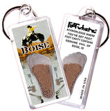Boise FootWhere® Souvenir Key Chain. Made in USA - FootWhere® Souvenirs