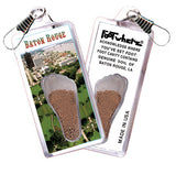 Baton Rouge FootWhere® Souvenir Zipper-Pull. Made in USA - FootWhere® Souvenirs