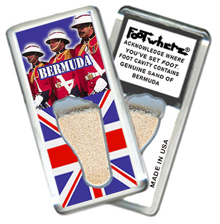 Bermuda FootWhere® Souvenir Magnet. Made in USA - FootWhere® Souvenirs