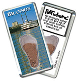 Branson, MO FootWhere® Souvenir Fridge Magnet. Made in USA - FootWhere® Souvenirs