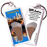 Charlotte FootWhere® Souvenir Keychain. Made in USA - FootWhere® Souvenirs