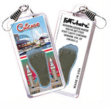 Chicago FootWhere® Souvenir Zipper-Pull. Made in USA - FootWhere® Souvenirs