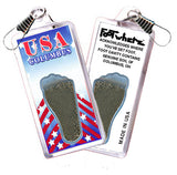Columbus, OH FootWhere® Souvenir Zipper-Pull. Made in USA - FootWhere® Souvenirs