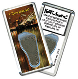 Cleveland FootWhere® Souvenir Fridge Magnet. Made in USA - FootWhere® Souvenirs