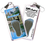 Cleveland FootWhere® Souvenir Zipper-Pull. Made in USA - FootWhere® Souvenirs