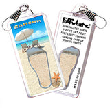 Cancun FootWhere® Souvenir Zipper-Pull. Made in USA - FootWhere® Souvenirs