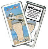 Corpus Christi FootWhere® Souvenir Magnet. Made in USA - FootWhere® Souvenirs
