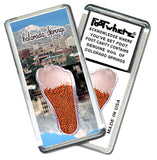 Colorado Springs FootWhere® Souvenir Fridge Magnet. Made in USA - FootWhere® Souvenirs