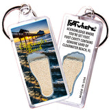 Clearwater FootWhere® Souvenir Key Chain. Made in USA - FootWhere® Souvenirs