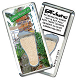 Cayman Islands FootWhere® Souvenir Magnet. Made in USA - FootWhere® Souvenirs