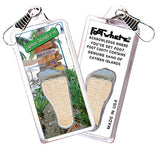 Cayman Islands FootWhere® Souvenir Zipper-Pull. Made in USA