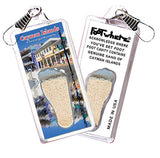 Cayman Islands FootWhere® Souvenir Zipper-Pull. Made in USA - FootWhere® Souvenirs