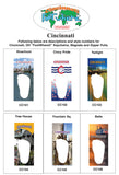 Cincinnati FootWhere® Souvenir Magnet. Made in USA - FootWhere® Souvenirs