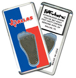 Dallas FootWhere® Souvenir Fridge Magnet. Made in USA - FootWhere® Souvenirs