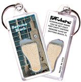 Daytona Beach FootWhere® Souvenir Keychain. Made in USA