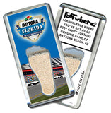 Daytona Beach, FL FootWhere® Souvenir Magnet. Made in USA