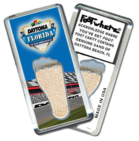 Daytona Beach, FL FootWhere® Souvenir Magnet. Made in USA - FootWhere® Souvenirs