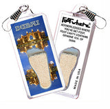 Dubai, UAE FootWhere® Souvenir Zipper-Pull. Made in USA