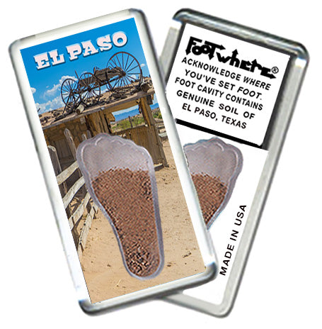 El Paso FootWhere® Souvenir Fridge Magnet. Made in USA - FootWhere® Souvenirs