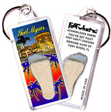 Fort Myers, FL FootWhere® Souvenir Keychain. Made in USA - FootWhere® Souvenirs